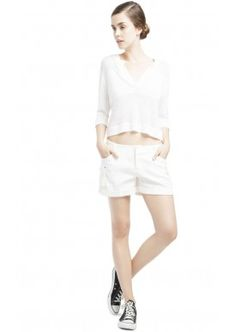 SHENA LINEN SWEATER by Alice + Olivia