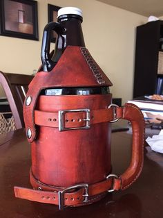 PATTERN for Leather Growler Holder and Beer Cooler 64 oz
