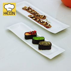 white sushi dishes are japanese tableware. High quality & durable sushi dishes in different styles and sizes are perfect for restaurants and hotels. Rectangle Plates, Sushi Dishes, Sushi Plate, Cake Plates, Serving Dishes, Dinnerware, Catering, Restaurant, Japanese
