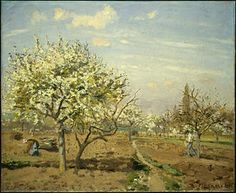 Orchard in Bloom, Louveciennes (1872)