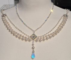 Swarovski Backdrop necklace (front view) from Etsy