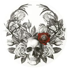 #skull #roses