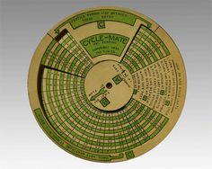 Original Cycle-Mate Vintage Fertility Wheel - Extremely Rare and HTF Slide Rule, Fertility, Ruler, Radios, Planting, Charts, 1950s, Calendar, Wheels