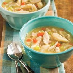 Deli-roasted chicken, cream of chicken soup, and canned biscuits make a quick-and-tasty version of classic chicken and dumplings.