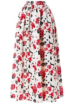 7. #Floral Printed #Skirt - 7 Full Midi Skirts That Will Have You #Working This Season's Ladylike #Trend ... → #Fashion #Pleat