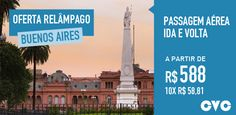Oferta relâmpago CVC - Passagens aéreas para Buenos Aires #CVC #buenosaires #passagens