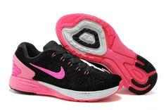 Best Nike Air Lunar Glide 6 Peach Rouge 2015 Noir Rose Femme Chaussures