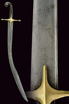 "Ottoman kilij, the short version known as ""pala, mid-19th century."