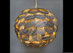 Artichoke Lamps: Allison Patrick Transforms Recycled Books Into Lamp Shades
