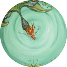 Mermaid Treasure Painting  - Mermaid Treasure Fine Art Print Moira Gil