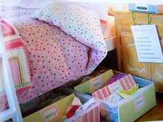 under the bed days of the week clothing organizer