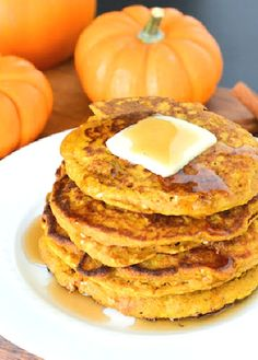 Low FODMAP Recipe and Gluten Free Recipe - Pumpkin Spice Oatmeal Pancakes - http://www.ibs-health.com/pumpkin_spice_oatmeal_pancakes.html
