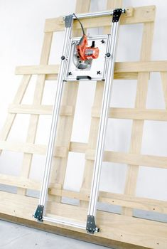 Unistrut based Panel Saw with 3D printed trolleys