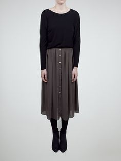 flowy midi skirt and cropped sweater, from oak+fort