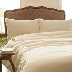 debenhams-Cream 'Sateen Stripe' bed linen - Duvet covers & pillow cases - Bedding - Home & furniture -
