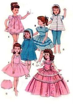 VINTAGE-21-5-TONI-WALKER-DOLL-CLOTHES-Pattern-7975
