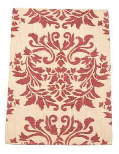 2' x 3' Natural Jute Eco Friendly Red Floral Small Rug by Rug Shop and More