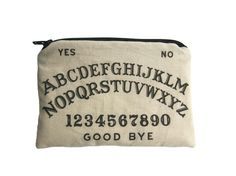 Hey, I found this really awesome Etsy listing at https://www.etsy.com/listing/216953640/ouija-board-zipper-pouch