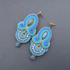 "earrings soutache - ""Marrakech""  from ~ Blue Butterfly ~ by DaWanda.com"