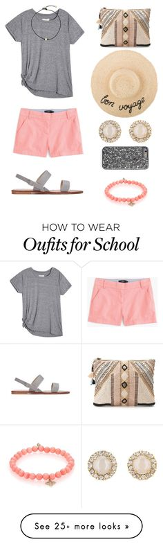 gray shirt, pink shorts, choker, pearls {spring or summer}