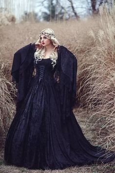 Gothic Black Lace Halloween Prom Dresses 2016 A Line Custom Made Ruffles Ribbon Trumpet Long Sleeve Medieval Fairy Vingate Evening Gowns Vintage Prom Dresses 2016 Evening Gowns Lace Dresses Online with $180.58/Piece on Alinabridal's Store | DHgate.com