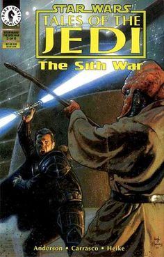 """dailystarwars: """"Tales of the Jedi: The Sith War The Trial of Uliq Qel-Droma October 1995 Written by Kevin J. Anderson Art by Dario Carrasco Jr. Star Wars Jedi, Star Wars Icons, Star Wars Comics, Comic Book Covers, Comic Books, Image Comics, Dark Horse, Animation Film, Stars"""