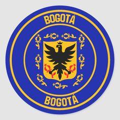 Pegatina Redonda Emblema redondo de Bogotá | Zazzle.com