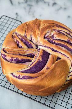 Ube Swirl Bread (Purple Yam Swirl Bread)-The Little Epicurean