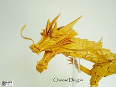Origami Chinese Dragon by Kade Chan - I have to admit, this is a cutest origami dragon. Wish I found a CP for it :)