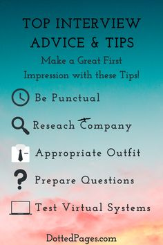 Whether your next interview is face to face or virtual, these fantasic tips for before, during and after your interview have you covered! Check out my blog post to nail your next job interview! #jobhunting #jobs #interview #interviewtips #jobsearch #jobseeker Interview Advice, Dotted Page, Job Search, Nail, Posts, Tips, Blog, Check, Messages
