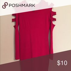 Edgy Red Dress Red/Sweater Dress --- NEVER BEEN WORN! Body Central Dresses Long Sleeve