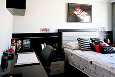 Decoração de quartos masculino solteiro – veja 40 modelos lindos   dicas!