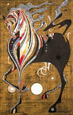 Tadashi Nakayama (Japanese, b. 1927). Afternoon, Riding Horse Festival, 1968. Color woodblock.