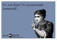 I'm not short, I'm concentrated awesome!!