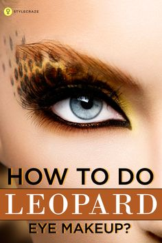 Maybe you're the kind who hates the sight of leopard print, or maybe you're not. In any case we map this catty print-inspired eye makeup which should make embracing the look-challenge easier.