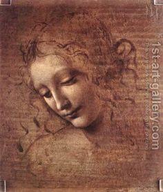 Leonardo da Vinci Female Head painting is available for sale; this Leonardo da Vinci Female Head art Painting is at a discount of off. Mona Lisa, Renaissance Kunst, High Renaissance, Italian Renaissance Art, Female Head, Pierre Auguste Renoir, Rembrandt, Oeuvre D'art, Love Art