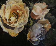 Diana Watson, Figurative and Still Life Australian Artist, Paintings - Conversations in my Garden Series