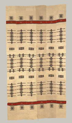"Africa | Fulani people, Mali  | Stripwoven blanket ""Khasa"" | 20th century | Wool"