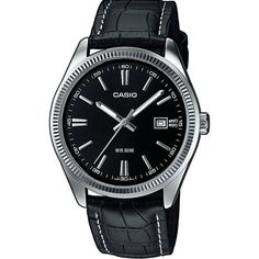 Shop for Casio Men's Classic Black Leather Watch. Get free delivery On EVERYTHING* Overstock - Your Online Watches Store! Casio Vintage, Best Looking Watches, Ladies Dress Watches, Casio Classic, Men's Collection, Messing, Color Negra, Casio Watch, Luxury Watches
