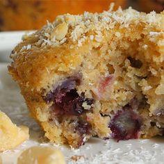 Blueberry Coconut Macadamia Muffins
