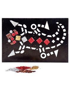 Bei dieser kreativen #Wanddeko können Sie selbst aktiv werden und eine #Dekotafel mit einem ganz individuellen Glitzer-Mosaik erstellen! Ihre Gäste werden Augen machen!