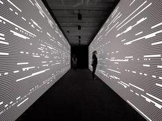 Light show, taken to a new level. ryoji ikeda / photography: fernando maiquieira www.mirabellointeriors.com