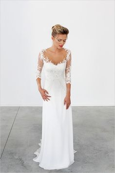 Wedding dresses,lace wedding dresses,half sleeve bridal gown,vintage wedding dress,elegant wedding bridal · Focusdress · Online Store Powered by Storenvy Wedding Dress Tea Length, Half Sleeve Wedding Dress, Half Sleeve Dresses, Wedding Dress Sheath, Wedding Dress Cinderella, Elegant Bride, Simple Elegant Wedding Dress, Simple Wedding Dress With Sleeves, Simple Elegance