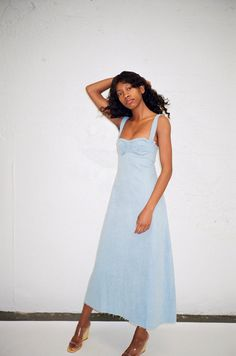 DELFINA BALDA | Doremi Dress - Light Denim