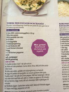 Torsk med potatis och äggsås