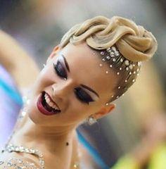 #dance #latindance #ballroomdance #makeup #dancehairstyle  #swarovski