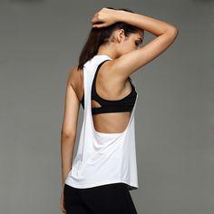 Phụ nữ tập thể dục thể thao t shirt yoga workout vest tập thể dục dục đào tạo tập chạy quần áo thể thao tee tank tops singlets quần áo