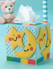 HAPPY DREAMS TISSUE BOX COVER BABY PLASTIC CANVAS PATTERN INSTRUCTIONS