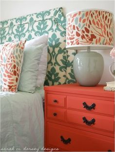 Coral and Navy Color Scheme || Master Bedroom || Master Bedroom Decorating Ideas