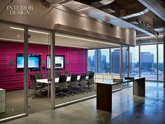 Chairs by Antonio Citterio and a table by Alberto Meda furnish the smaller of the two glass-enclosed conference room. Southern Hospitality: Atlanta Welcomes JWT By Interior Architects   Projects   Interior Design #office